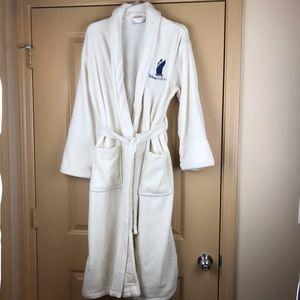 Disney Cruise Lines Plush Robe Cream Pockets